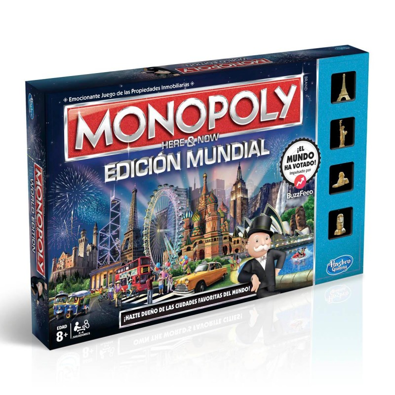 Monopoly Edicion Mundial Juego De Mesa Zacatrus