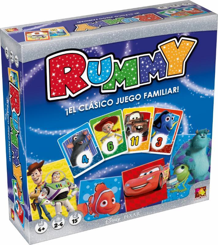 Disney Rummy Juego De Mesa Zacatrus